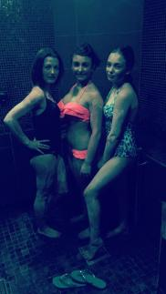 my 3 in the steam room